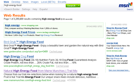 high energy food results on MSN